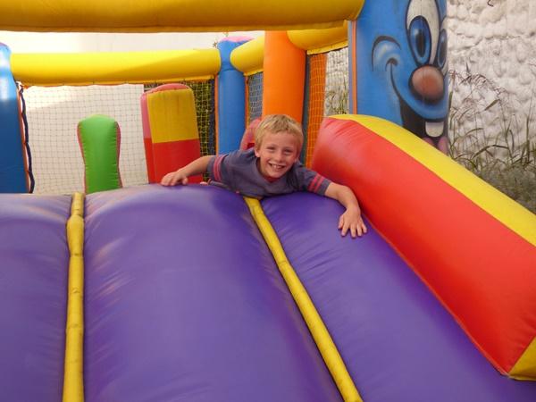 Danny on bouncy castle.