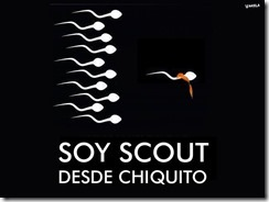 I've been a scout since I was very small, sperm picture