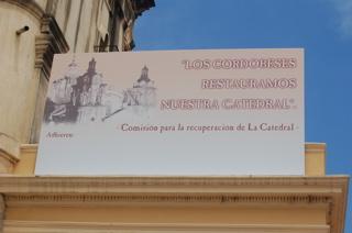 Sign on Córdoba Cathedral San Martín