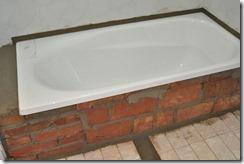 Bath under construction