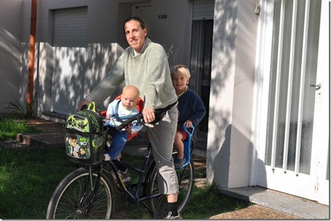 Hazel, joni, danny on bike