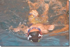 Danny swimming