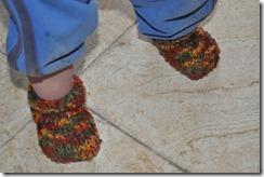 Feet in booties