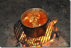 stew on a fire