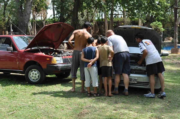 jump starting our car