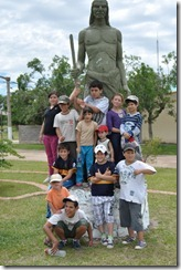 Scouts at Indian Statue
