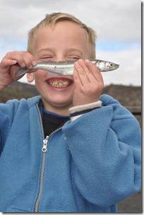Joni with fish