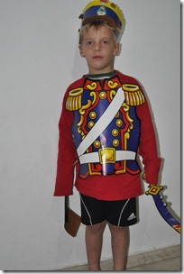 Joni dressed up as soldier