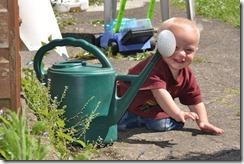 Danny in garden