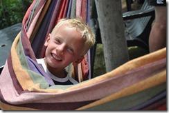 Joni in hammock