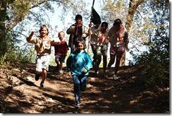 running down hill