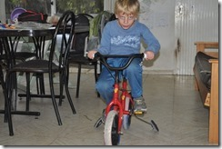 Joni on bike