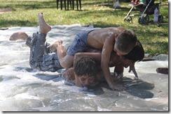 washing up liquid wrestling