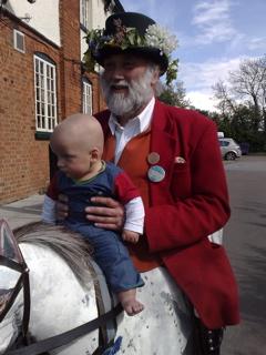 Joni on Morris dancer's horse