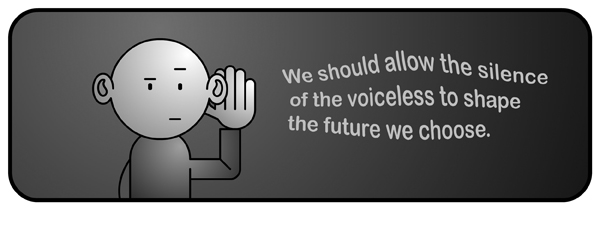 Asbo Jesus cartoon: We should allow the silence of the voiceless to shape the future we choose