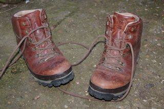 old walking boots