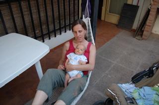 Hazel and Joni in hammock