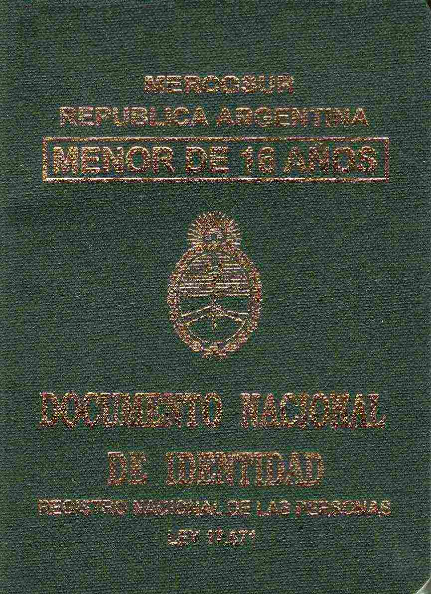 Argentinian Identity Document
