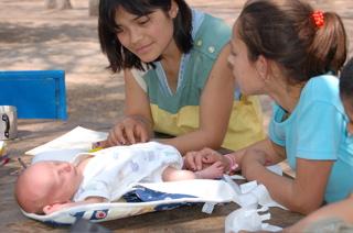 Joni with Gisela and Jimena in San Marcos