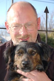 Martin with Cami-dog