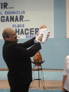 Ruben presenting Joni to church