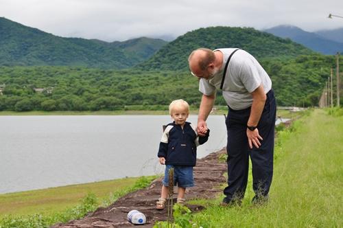 Joni and Martin by the lake