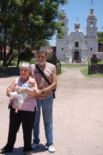 With Ana and Oscar at Santa Catalina