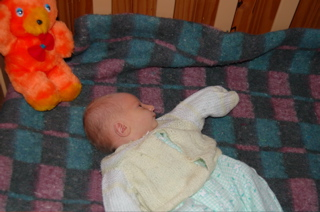 Joni with his teddy